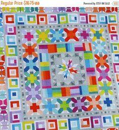 Aviatrice Medallion Quilt Pattern da Elizabeth di CurlyGirlFabric