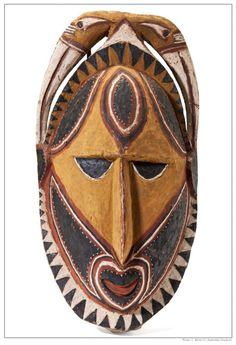 Carved face - Kalabu village, Maprik sub-province, East Sepik Province, Papua New Guinea. Western Artist, Aboriginal Art, Tribal Art, Tribal Mask, Art, African Art, First Art, Masks Art, Africa Art