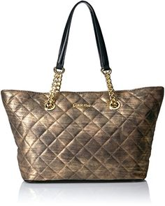 Calvin Klein Florence Nylon Novelty Chain Tote >>> Check this awesome product by going to the link at the image. (This is an affiliate link) Calvin Klein Handbags, Cole Haan, Florence, Michael Kors, Shoulder Bag, Chain, Pattern, Image Link, Awesome