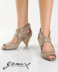 Peep Toe - Cone Heel