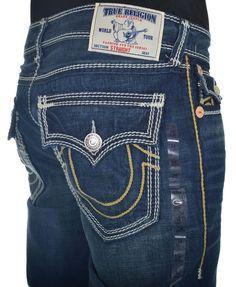 True Religion Mens Jeans Size 34 Straight with Flaps Rope Logo Mega T NWT $345 #TrueReligion #ClassicStraightLeg