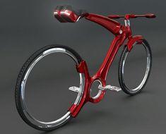 Prototype de John Villareal qui crée un nouveau vélo sans rayon ni chaîne.
