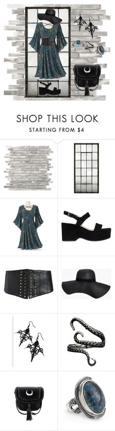 """""""Dark night bohemian"""" by banhary ❤ liked on Polyvore featuring Marc Jacobs, Boohoo and Curiology"""