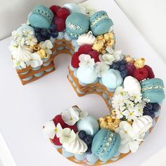 Happy birthday to a little poppet who loves blue Happy birthday to a little poppet who loves blue Letter Cake Toppers, Monogram Cake Toppers, Wedding Cake Toppers, Giant Cookie Cake, Cake Cookies, Cupcakes, Number One Cake, Number Cakes, Number Birthday Cakes