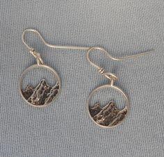 Sterling silver mountain earrings