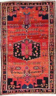 Red 5' 10 x 9' 9 Hamedan Persian Rug | Persian Rugs | eSaleRugs