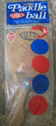 """Paddle ball.  The elastic quickly broke & then it was a """"spanking paddle"""".  I always hid ours under the couch."""