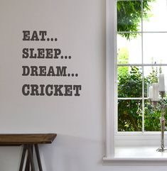 'eat sleep dream' sport wall sticker by leonora hammond | notonthehighstreet.com