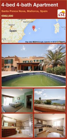 4-bed 4-bath Apartment in Santa Ponca Nova, Mallorca, Spain ►€982,000 #PropertyForSaleInSpain