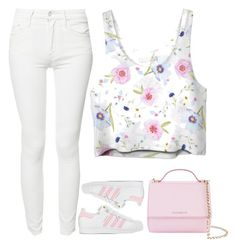 """pink love"" by ecem1 ❤ liked on Polyvore featuring Mother, adidas and Givenchy"