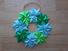 guirnalda puerta en origami