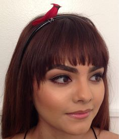 Red Cardinal Bird Headband by INGcouture on Etsy