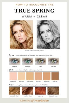If you have just discovered that you are a True Spring in the seasonal colour analysis, find out which colours look best on you. Spring Color Palette, Spring Colors, Light Spring Palette, Blue Black Hair Dye, Clear Spring, Warm Spring, Bright Spring, Seasonal Color Analysis, Color Me Beautiful