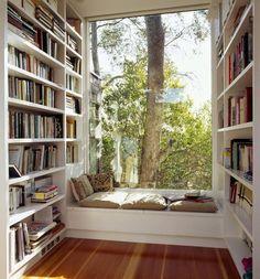 ovo je kutak o kome mastam....okruzena knjigama sa predivnim pogledom...