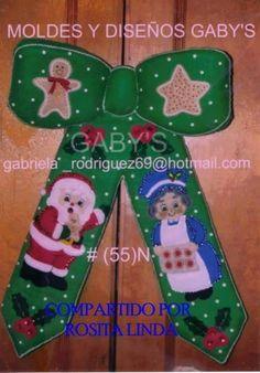 MOÑO DE SANTA Y ABUELITA Free Pattern, Felt, Christmas Ornaments, Holiday Decor, Fabric, Things To Sell, Adidas, Xmas, Christmas 2017