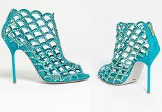 Unique something blue from Sergio Rossi via Nordstrom #heels #shoes #bridalbooties