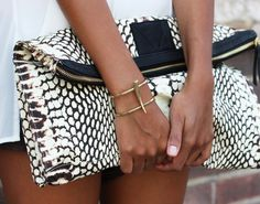 Fancy - Snake Skin Print Clutch by Cynthia Vincent