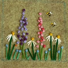 Wonderful Ribbon Embroidery Flowers by Hand Ideas. Enchanting Ribbon Embroidery Flowers by Hand Ideas. Crewel Embroidery Kits, Embroidery Flowers Pattern, Silk Ribbon Embroidery, Hand Embroidery Designs, Embroidery Thread, Embroidered Flowers, Machine Embroidery, Embroidery Tattoo, Embroidery Ideas