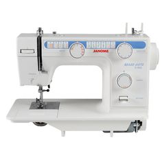 Janome Classmate S-950  The Classmate S-950 is a solid machine made to school specifications - but perfect for any type of sewist. The flat bed aluminum alloy construction is made to fit in exisiting school cabinetry. The machine features 19 built-in stitches, including a four-step buttonhole. A threading guide is located on the front panel for easy viewing, and finger guard is afixed to the machine.