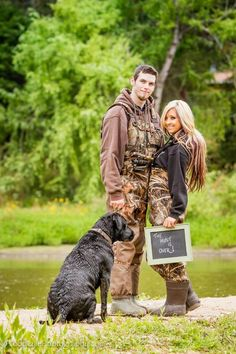 Engagement photos for the country couples who love to hunt! Except with our bear dogs!!
