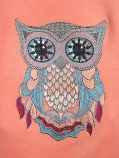 Owl free embroidery 2 - Birds free embroidery - Machine embroidery community