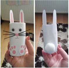 Toilet Paper Roll Crafts - Get creative! These toilet paper roll crafts are a great way to reuse these often forgotten paper products. Easter Arts And Crafts, Bunny Crafts, Spring Crafts, Holiday Crafts, Easter Crafts For Seniors, Craft Activities, Preschool Crafts, Kids Crafts, Toilet Paper Roll Crafts
