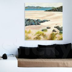 Canvas print PAINTED BEACH by Sticky!!!