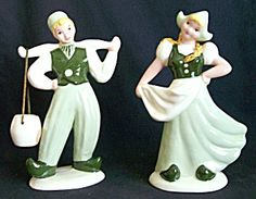Hedi Schoop Dutch Figurine/Planter Pair 1946. Click on the image for more information.)