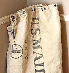 Old U.S. Mail bag.  Would be great for laundry.
