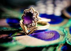 Ashley Athey Photography - www.ashleyatheyphoto.com - Bloomington, Indiana Wedding Photographer (details, macro, peacock, colorful, ring, unique, purple, engagement, unique)