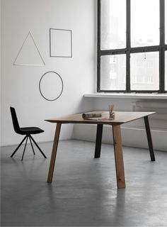 Portano wooden table for modern design enthusiasts.
