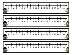 Number Line Desk Plates by Inspired by Kinder Printable Number Line, Line Math, Order Of Operations, Teaching Phonics, Math Notebooks, Learning Numbers, Homeschool Math, Math Facts, First Grade Math