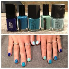 Blue ombre #manimonday