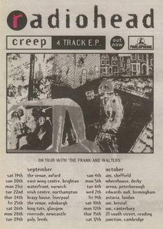 Radiohead - 17 OCTOBRE 1992, CAMBRIDGE, JUNCTION