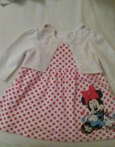 BNWOT Baby Girls Mothercare Pink Spotted Tiered Dress Age 3-6 and 6-9 months