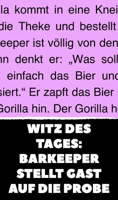 Witz des Tages: Barkeeper stellt Gast auf die Probe Humor, Periodic Table, 3d, Funny Jokes, Funny Vidos, Funny Pics, Funny Stuff, Joke Of The Day, Bartenders