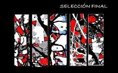 selección final de los 5 paneles de vidrieras para la escenografía de la danza butoh