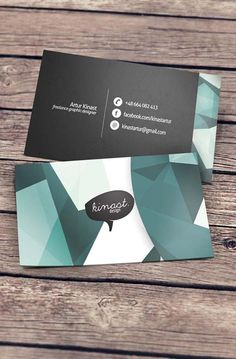 Creative Business Card Design  Business Card design by Artur Kinast to promote his personal business 'Kinast Design'.    via: WE AND THE COLOR  Facebook//Twitter//Google+//Pinterest