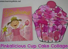 Pinkalicious Cupcake Collage, would be great as a reading activity