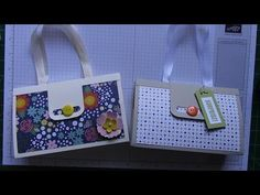Purse Shaped Gift Box with Stampin' Up's designer series paper and stamps - YouTube