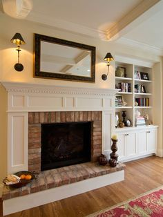 85 Simple Fireplace Wall Design Ideas