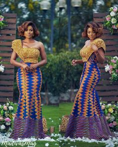 """Sima Brew has unveiled her latest collection and she titled it """"Obaapa""""; this collection of is one filled traditional wedding dresses for the proud Ghanaian African Prom Dresses, Latest African Fashion Dresses, African Print Fashion, African Dress, Africa Fashion, African Wedding Attire, African Attire, African Traditional Dresses, Traditional Wedding Dresses"""