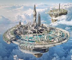 Sci Fi Landscape Futuristic Architecture Remodels and restorations Cyberpunk City, Ville Cyberpunk, Cyberpunk Kunst, Futuristic City, Futuristic Architecture, Concept Architecture, Architecture Geometric, Classical Architecture, Landscape Architecture