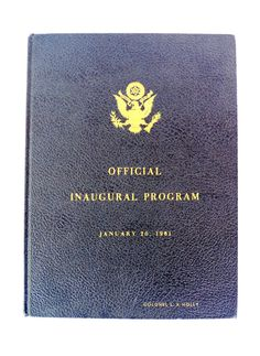 JFK Official Inaugural Program Hardcover Book January 20, 1961 Limited DeLuxe Edition Number 453 John F Kennedy Presidential Inauguration by retrowarehouse on Etsy