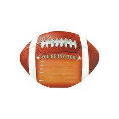 Football Jumbo Invitations 8ct