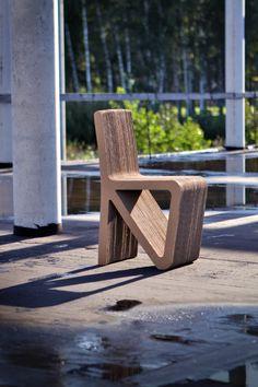 RECHAIR from cardboard eco furniture Cardboard Chair, Diy Cardboard Furniture, Eco Furniture, Cardboard Design, Paper Furniture, Cardboard Crafts, Custom Furniture, Furniture Making, Furniture Design