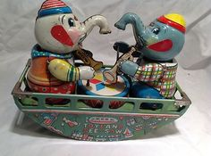 Toyland See Saw by s Toys Japan Vintage Tin Windup Toy