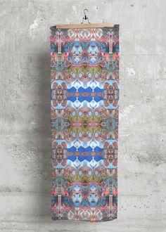 Modal Scarf - Nubian Dream in Rainbow by VIDA Original Artist Signature Design, Fashion Labels, Original Artwork, Bohemian Rug, Rainbow, Display, Detail, Clothing, Artist