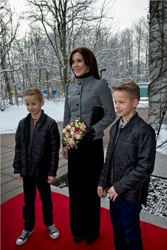 2013m~ Crown Princess Mary of Denmark and her boys.