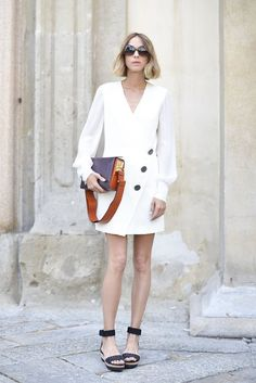 Pin for Later: 150+ Looks to Inspire Your Best Dressed Summer Yet  Candela Novembre kept cool wearing a Redemption Choppers dress paired with sandals and a Marni bag.